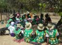 Members of WSSR going through the training manual again in Gutu before embarking on the door to door campaigns.