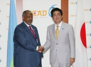 In Nairobi, Japanese PM Shinzo Abe met the leader of Djibouti where Tokyo will have its first foreign base since 1945.